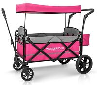 Wonderfold Wagon X2 Push Pull 2 Passenger Folding Stroller Pink NEW