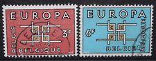 BELGIUM 1963 Europa Co-operation. Set of 2. Fine USED. SG1862/1863.