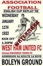 West Ham United-Estilo Vintage Década de 1920 coinciden con Cartel