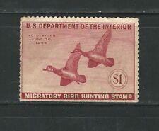 Usa: 1944; Departament interior, migratory bird hunting, imperf. EBN041