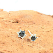 Wholesale, 925 Sterling Silver Star of David Stud Earrings with Onyx Gemstone