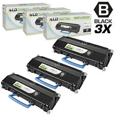 LD Compatible Lexmark E260A11A Set of 3 Black Laser Toner Cartridges
