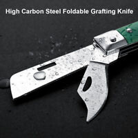 Foldable Budding Grafting Knife Double Blade Ergonomic Handle Garden Fruit Tree