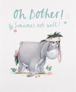 "Hallmark Disney Eeyore Get Well Soon Card ""Oh Bother!"""