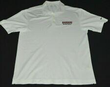 Harvard Crimson Basketball Nike Golf Polo Shirt Mens L White Stitched NCAA