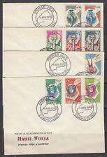 Burkina Faso Scott 71-88 FDC - 1960 Definitive Issue