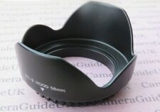58mm Flower Screw Mount  Lens Hood For Canon Nikon Pentax Olympus Sigma Lens