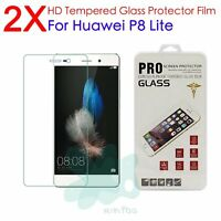 2Pcs 9H Premium Tempered Glass Film Cover Screen Protector For Huawei P8 Lite