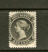 CANADIAN (NOVA SCOTIA)1 CENT BLACK 1860-63 MINT-HINGED