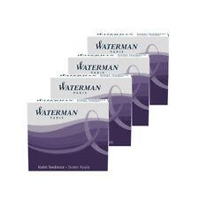 Waterman Mini Ink Cartridges Tender PURPLE x 24