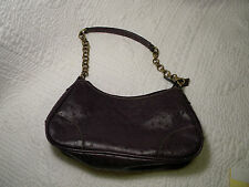 Vinyl Shoulder Purple Handbag Made in China with metal shoulder strap