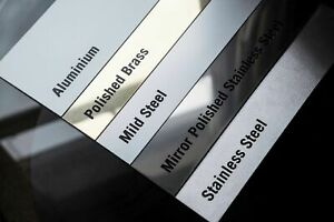 Sheet Metal - Stainless Steel, Brass, Mild, Aluminium, Galvanised, Mirror Polish