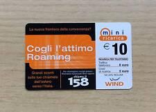 RICARICA TELEFONICA WIND - COGLI L'ATTIMO ROAMING - 10,00 EURO