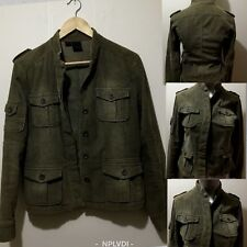 Size AU 8 - AU 14 Women's Military Styled Corduroy 4 Patch Pocket Jacket - urban