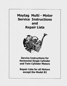 Maytag  Multi-Motor  Parts and Service Manual