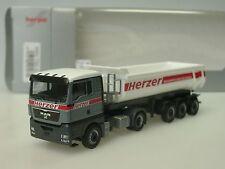 Herpa MAN TGX XL HERZER Rundmulden-Sattelzug - 915779 - 1/87