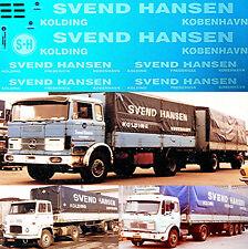 SVEND Hansen kolding Danmark MERCEDES 1616 Scania 1:43 truckdecal Camión