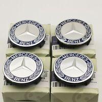 4x For Mercedes Benz WHEEL CENTRE HUB CAPS 75mm Cover Badge Emblem SE