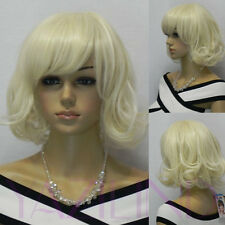Marilyn Monroe hair style full synthetic light blonde cosplay party wig cosplay