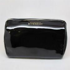 Givenchy Parfums Black Vinyl Make Up Bag New