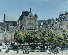 Claude Monet St.Germain l'Auxerrois à Paris Giclee Canvas Print Paintings Poster