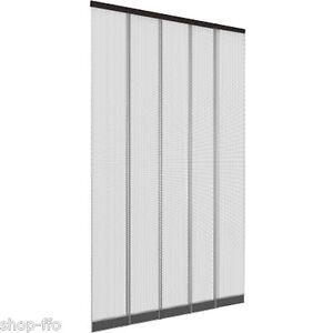XXL Tür Lamellen-Vorhang 125 x 240 cm Insektenschutz Fliegengitter NEU