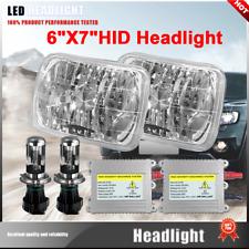 NEW! 2X H4 HID Light Bulbs 7x6 Square Headlight 5000K Super white Fit 2009 Ford