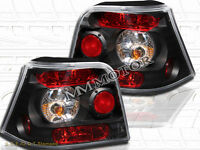 99-01-03-05 VW GOLF MK4 TAIL LIGHTS JDM BLACK NEW 02 04