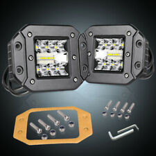 "5"" 260W Tri Row Flush Mount LED  Pod Light Bar Spot Flood 6000K Driving 4WD SUV"