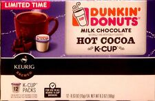 2X Dunkin Donuts Milk Chocolate Hot Cocoa K-cups - 24 Pods for Keurig Brewers