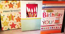 Greeting Cards Happy Birthday to You Candles Set 3 Notecards Self Seal Bag New