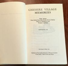 ' CHESHIRE VILLAGE MEMORIES '  : compiled by Cheshire Women's Institutes : 1969.