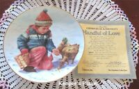 Hamilton Collection HANDFUL OF LOVE Collectible Plate Abbie Williams COA