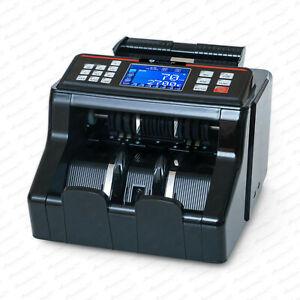 Geldzählmaschine Wertzähler Geldzähler gemischte Geldscheine UV / MG / IR  LCD