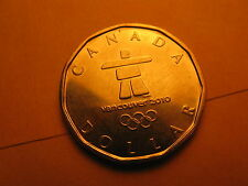 CANADA VANCOUVER 2010 OLYMPIC GAMES COMMEMORATIVE OLYMPIC LOGO $1  LUCKY LOONIE