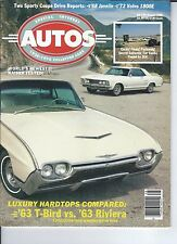 SPECIAL INTEREST AUTO - #94 / 1963 T-Bird / 1963 Rivera / Cords, Fords, Packards
