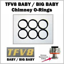 6- TFV8 Baby / Big Baby Chimney Orings ( ORing O-Ring smok Seals ) LEAKBUSTERS!