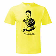 T-shirt Frida Kahlo baffi messico ART moda vintage maglietta maglia Uomo Man
