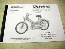 Mobylette/Moped/Series 40/N40/In English/ Parts Book With Full Exploded Diagrams