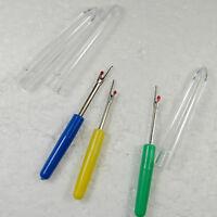3 x Seam Ripper / Stitch Unpicker / Quick Unpick - Clear Top - Mixed colours