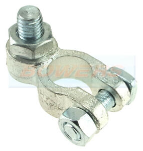 NEGATIVE - BATTERY TERMINAL WITH 8mm M8 VERTICAL STUD LUG BOLT AND NUT FIXING