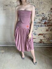 Vivienne Westwood Pink Corset Bustier Pleated Orb Dress BNWT