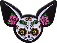 3971 Chihuahua Sugar Skull Day of the Dead Halloween Spooky Animal Enamel Pin