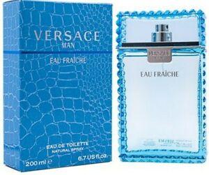 VERSACE Man Eau Fraiche for Men 6.7 oz 6.8 cologne EDT Spray NEW IN BOX