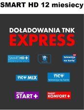 SMART 12m. Zasilenie Telewizja na Karte NC+,  Aufladung Doladowanie, TVN Polsat