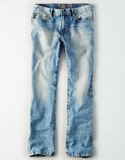 NEW $50 American Eagle Original Bootcut Jeans Light Tinted Wash Blue 36x34 Boot