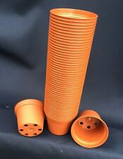 "TO 6.5, PLASTIC FLOWER POTS, TERRA-COTTA COLORED, 2 1/2"", LOT OF 50 NEW"