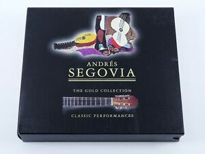 Andres Segovia Gold Collection Classic Performances Boxed Set 2 CDs 1997