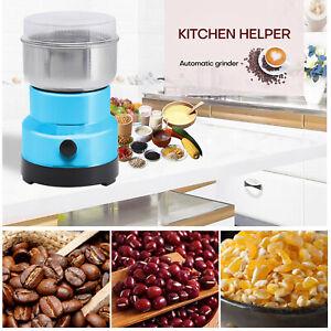 Electric Coffee Bean Grinder Nut Seed Herb Grind Spice Crusher Mill Blender Blue