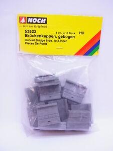68020 Noch H0 53522 Brückenkappen Bent 3cm Per 10 Piece New Original Packaging